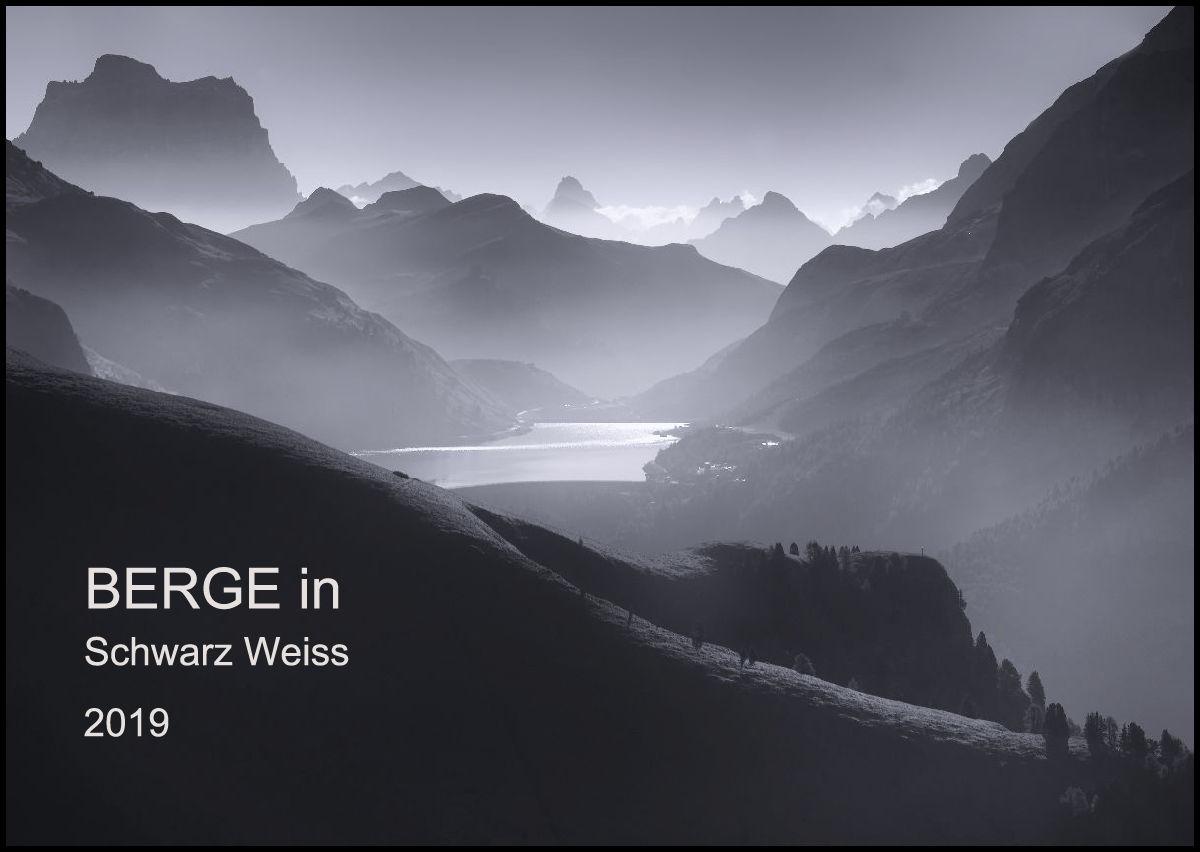 BERGE in Schwarz Weiss